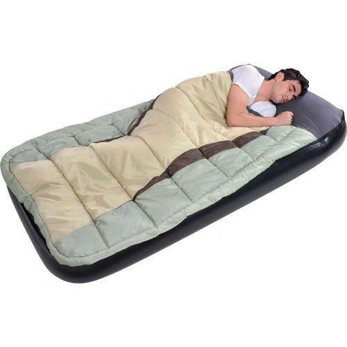 2 In 1 Air Bed Sleeping Bag Twin Size Camping Inflatable S Airbed Mattress Jilong