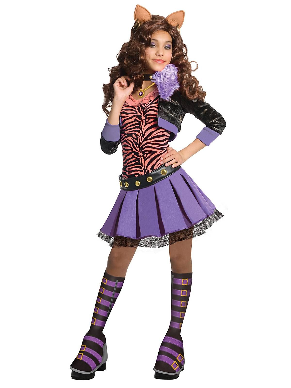 Deluxe Clawdeen Wolf Costume | Cheap Monster High Costumes for Girls  sc 1 st  Pinterest & Deluxe Clawdeen Wolf Monster High Costume | vacation planning ...