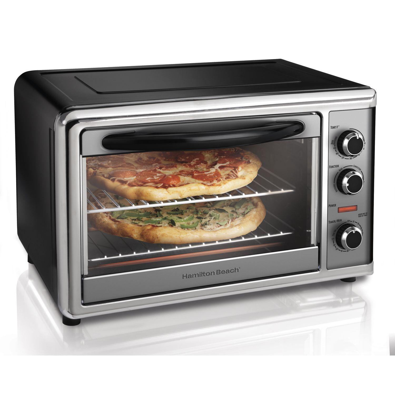Hamilton Beach 31104 Countertop Oven With Convection And Rotisserie Countertop Oven Countertop Convection Oven Rotisserie Oven