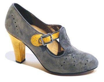 Cloche T-Strap Heels