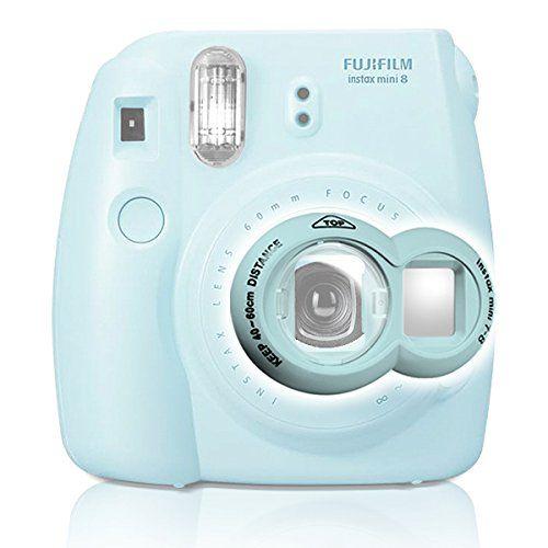Close-up Lens for Fujifilm Instax Mini7s 8 Instant Camera Photo Film Fuji Selfie Mirror - Blue