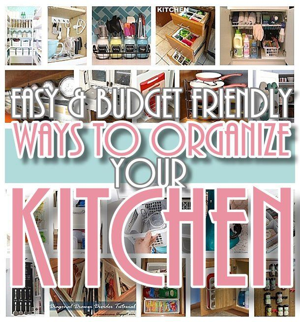 Easy budget friendly ways to organize your kitchen quick tips easy and budget friendly ways to organize your kitchen diy hacks ideas space solutioingenieria Images