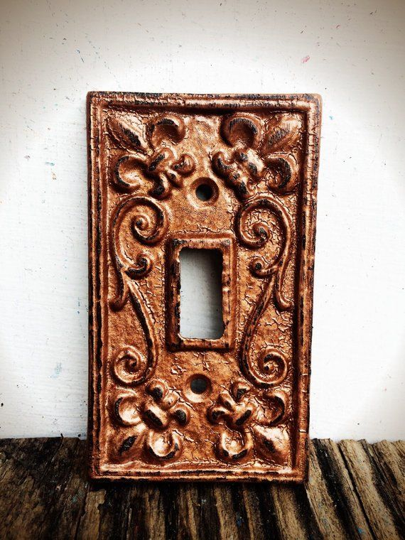 Rustic Hammered Copper Modern Farmhouse Light Switch Plate