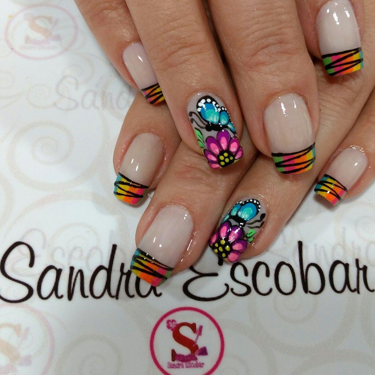 Pin de Adriana en uñas | Pinterest | Diseños de uñas, Manicuras y ...