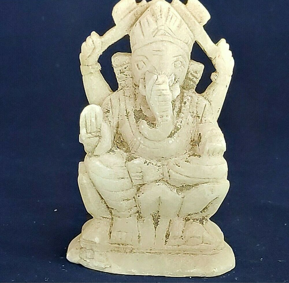Old Antique Hand Carved White Marble Lord Ganesha Figure Statue Collectible G5 In 2020 Statue Old Antiques Lord Ganesha