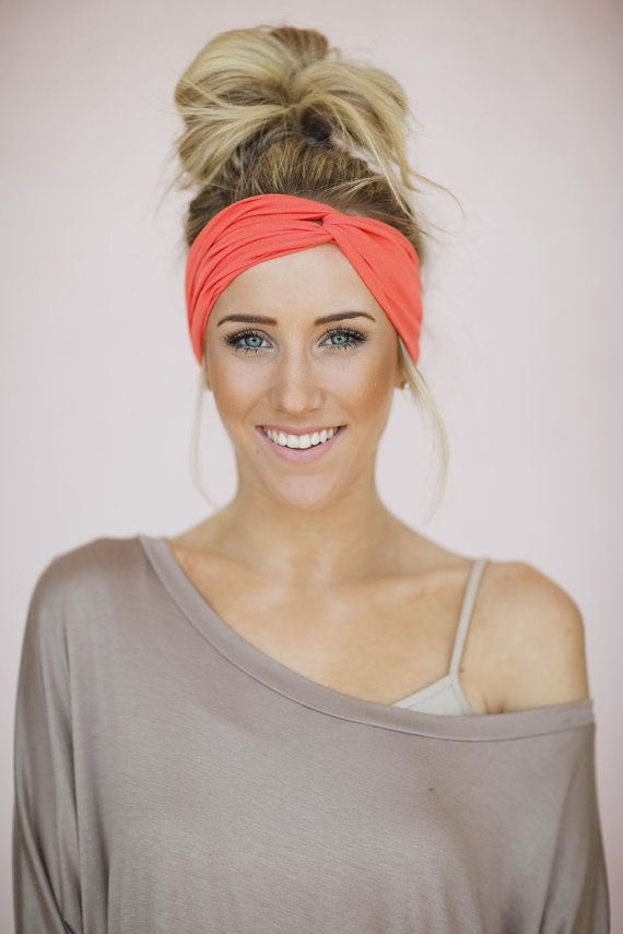 Turban Headband Women's Solid Jersey Turban Hair, by