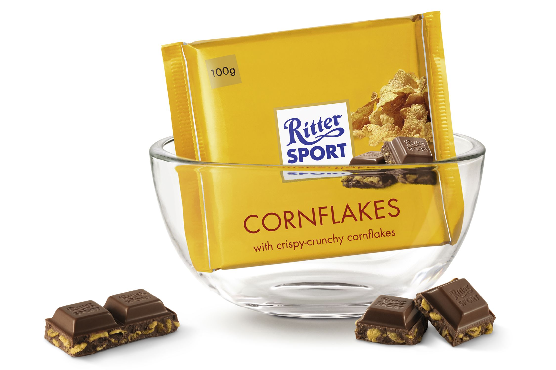 The new RITTER SPORT site Cornflakes, Creamy chocolate