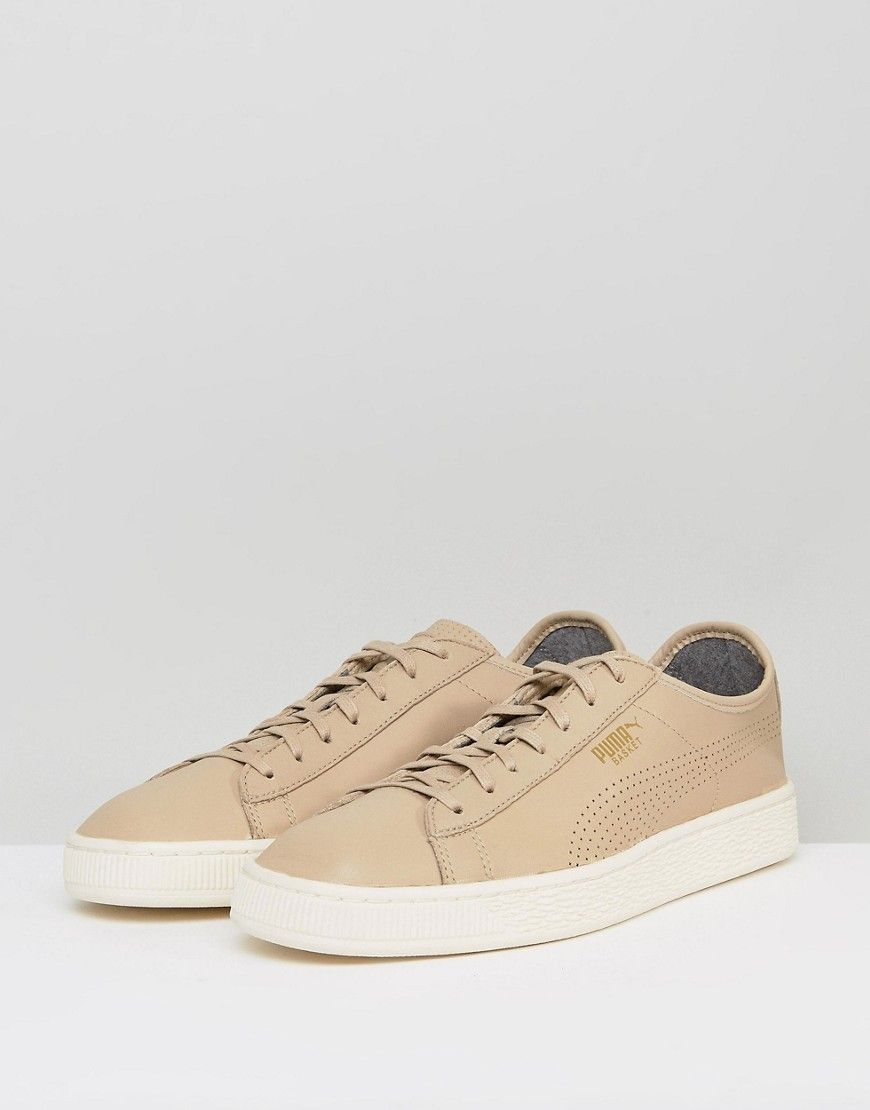 Puma Select Basket Classic Soft Sneakers In Beige 36382405