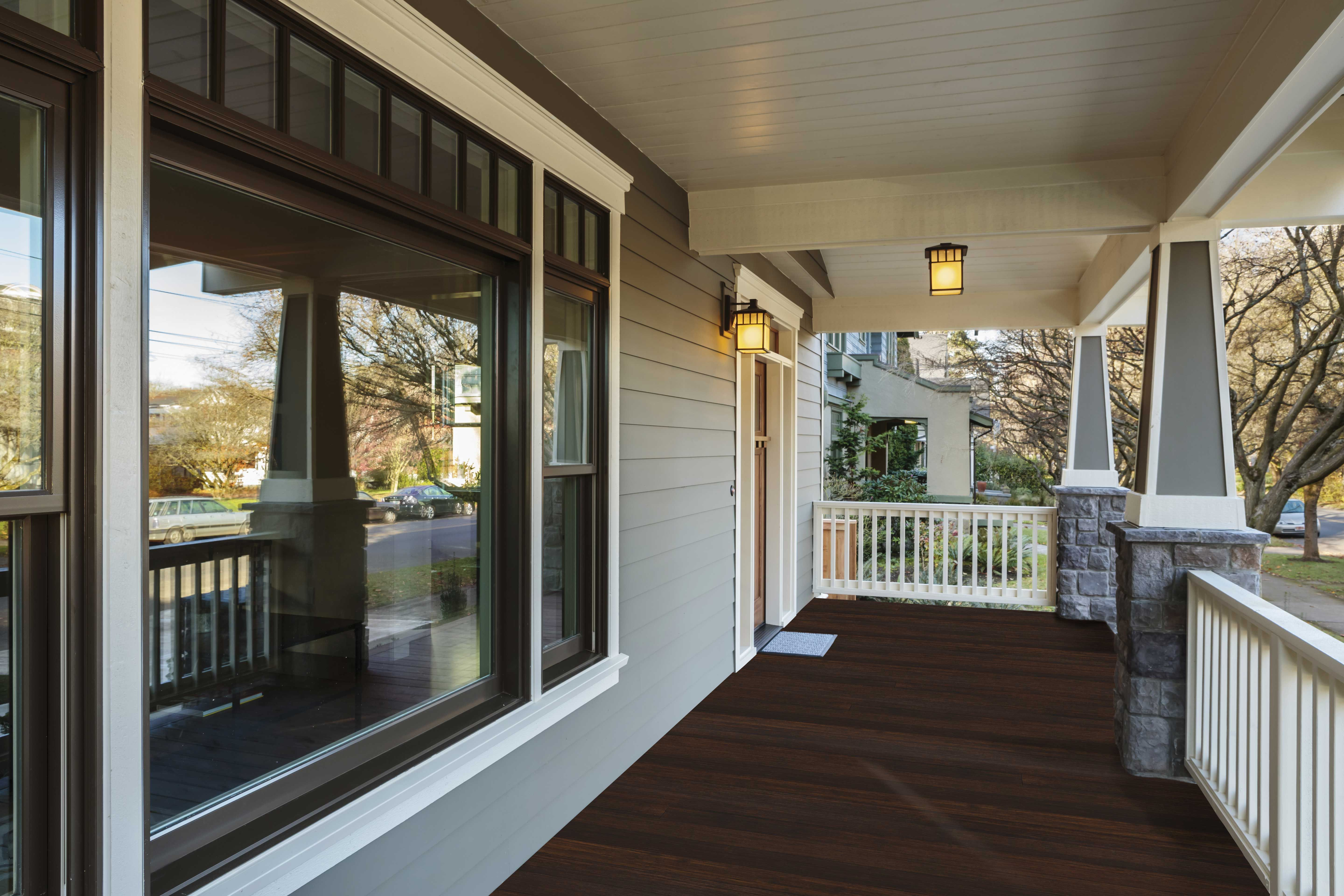 Classic Espresso 1x4 Porch Flooring T G Fused Bamboo Also For Interior Floors Traditional Porch Porch Flooring Different House Styles