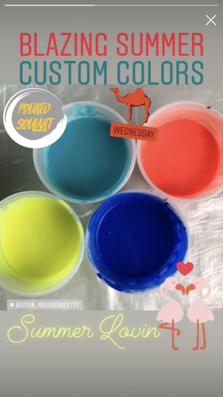 Exclusive Fluid Art Custom Color Palette Acrylic pouring
