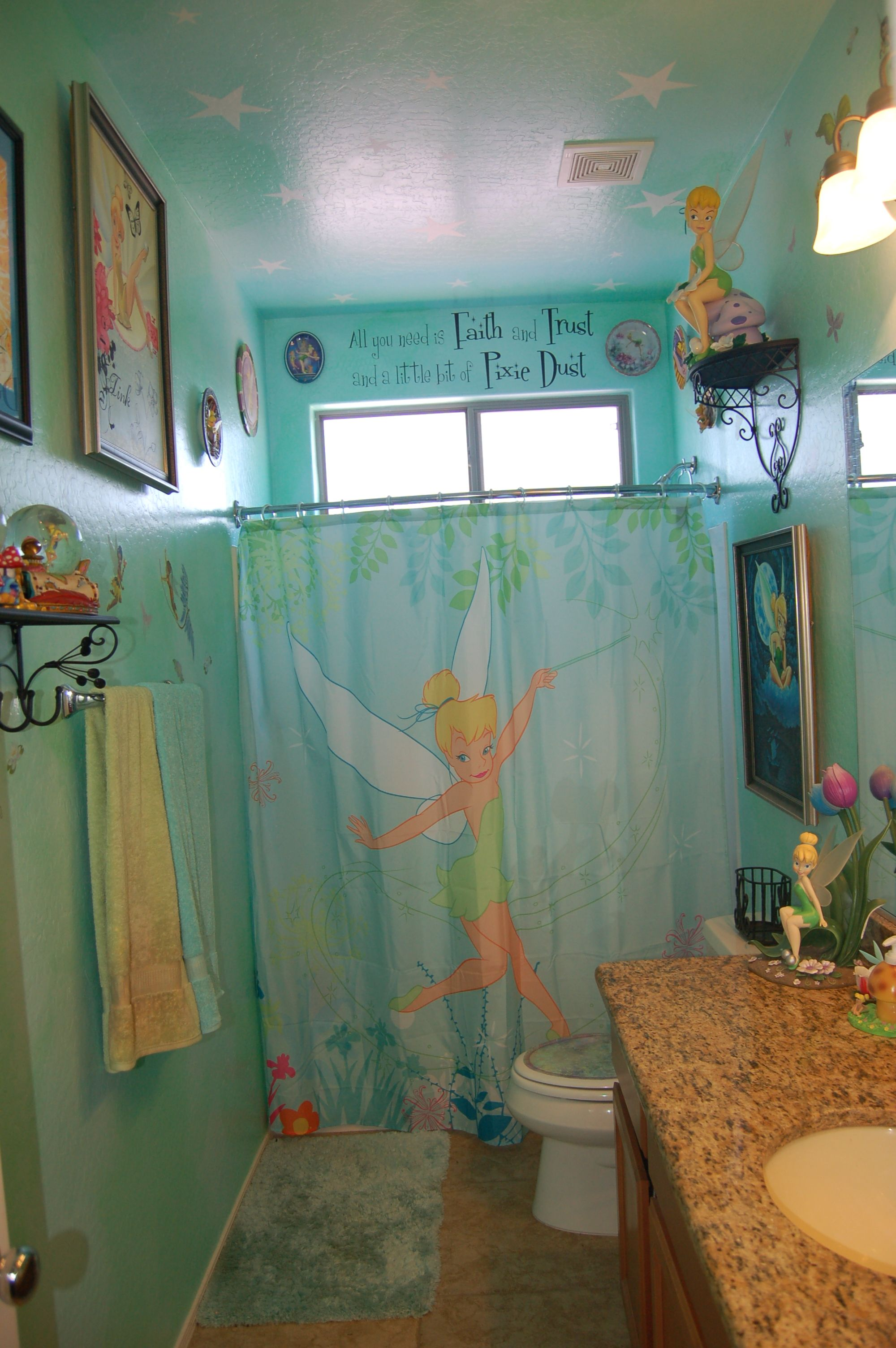 Disneytinkerbell bathroom disney decorating www Disney bathroom ideas