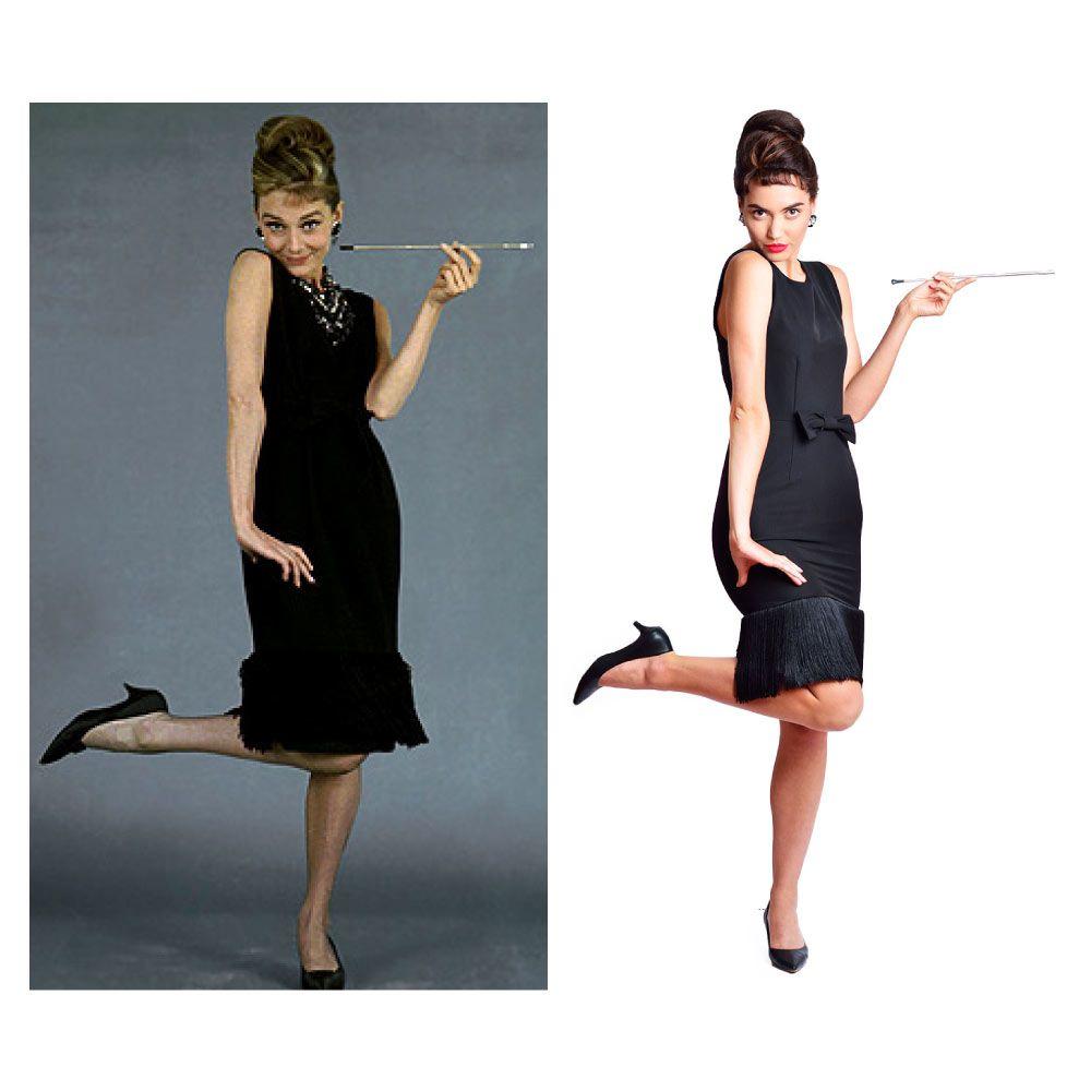 Audrey Hepburn – Breakfast At Tiffany's Black Tassel Dress