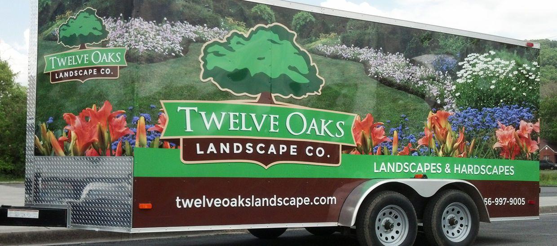 Twelve Oaks Landscape Co. Landscape, Car wrap design