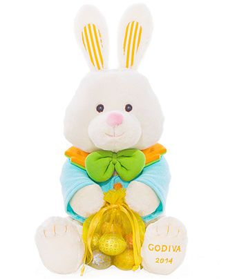 Godiva chocolatier plush easter bunny and 15 oz bag of godiva chocolatier plush easter bunny and bag of chocolates gourmet food gifts for the home macys negle Choice Image