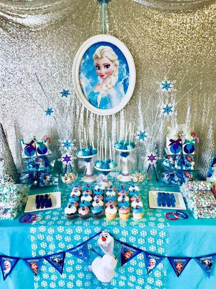 Frozen Disney Birthday Party Ideas Photo 1 Of 11 Disney Frozen Birthday Party Disney Frozen Birthday Frozen Birthday Party Supplies
