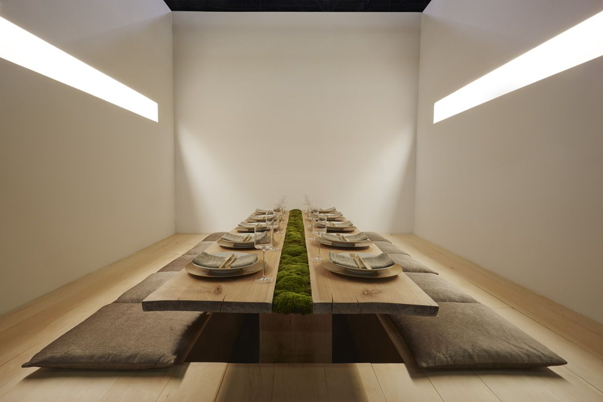 nature and Japanese influences create a serene dining environment by Calvin Klein #tabletop
