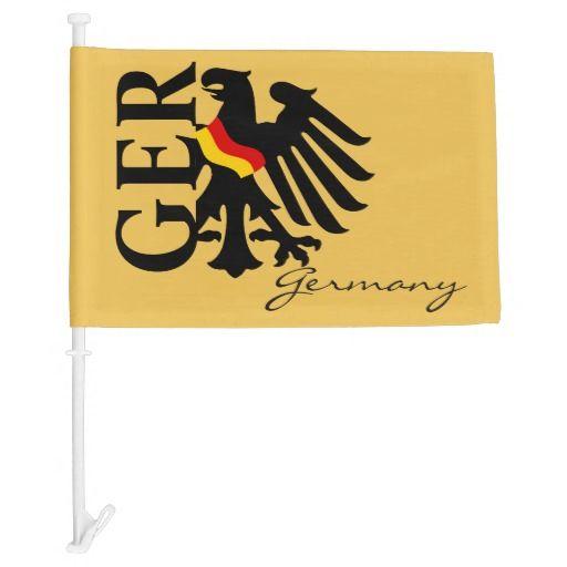 German Eagle With German Flag On Gold Car Flag German Flag German Eagle Car Flags
