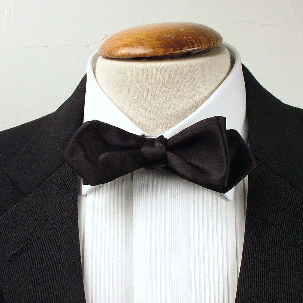 Marcella Style White Mens bow Tie re-Tied Dress Code High Quality