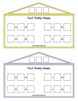Number Names Worksheets : addition fact families ~ Free Printable ...