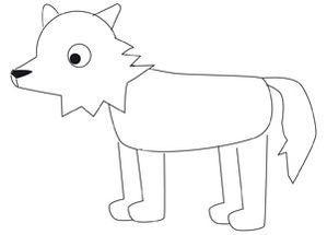 Apprends dessiner le loup loup 3 petits cochons - Dessiner un loup facilement maternelle ...