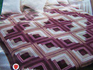 LOG CABIN CROCHET PATTERN Â« CROCHET FREE PATTERNS | Crochet ... : free crochet quilt patterns - Adamdwight.com