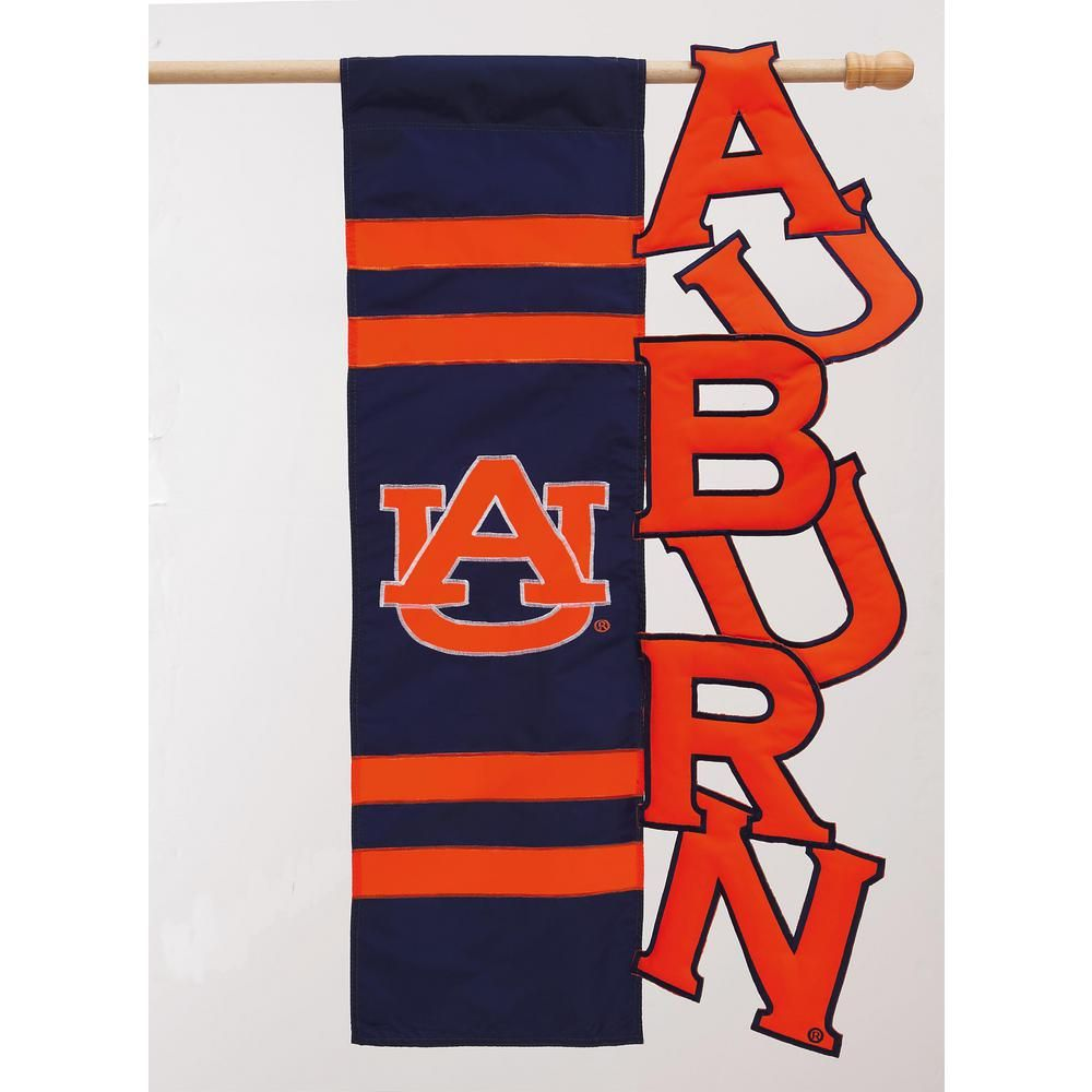 Evergreen 2 2 5 Ft X 3 3 5 Ft Auburn University Embellished House Flag Auburn Tigers Flag Auburn University