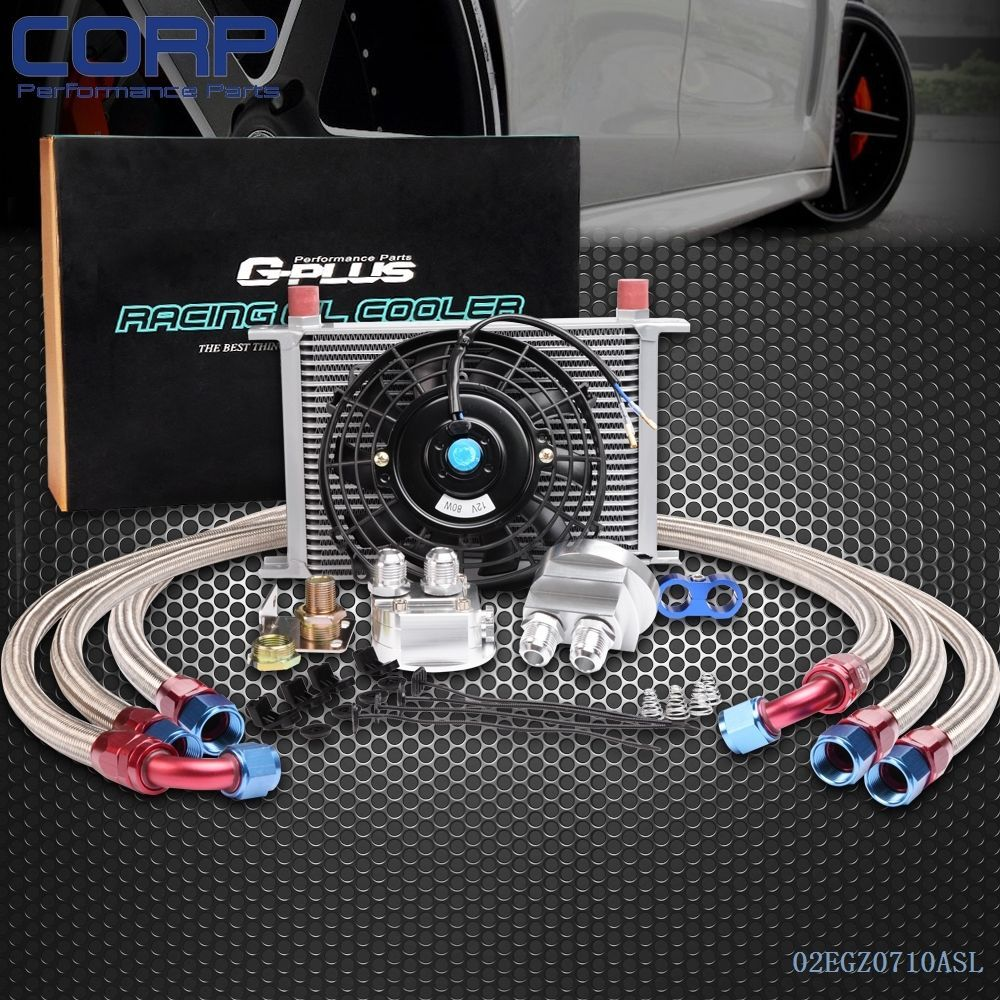 Oil Lines Gplus 7 ROW AN10 Universal Engine Oil Cooler Filter Adapter Kit