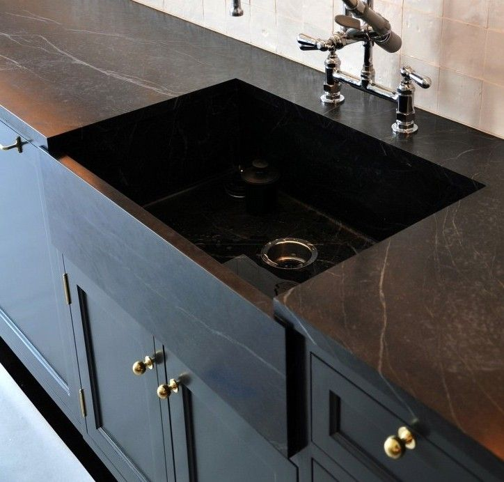 Remodeling The Intel On Black Marble Countertops Remodelista Soapstone Kitchen Kitchen Remodel Countertops Soapstone Countertops