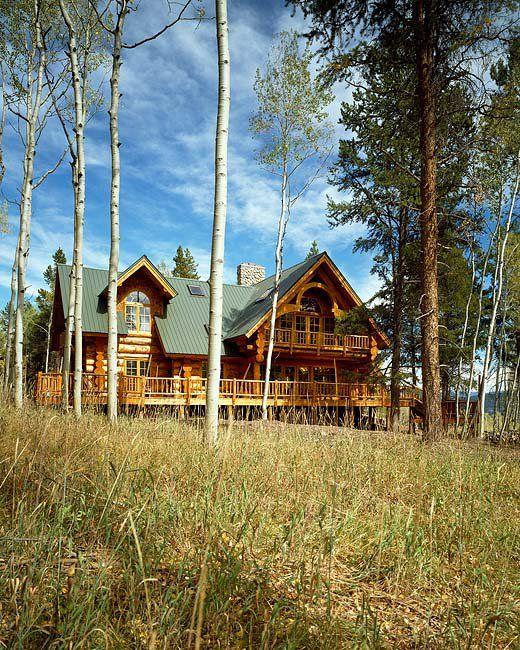 Montana Log Homes cabin built at Steamboat Springs