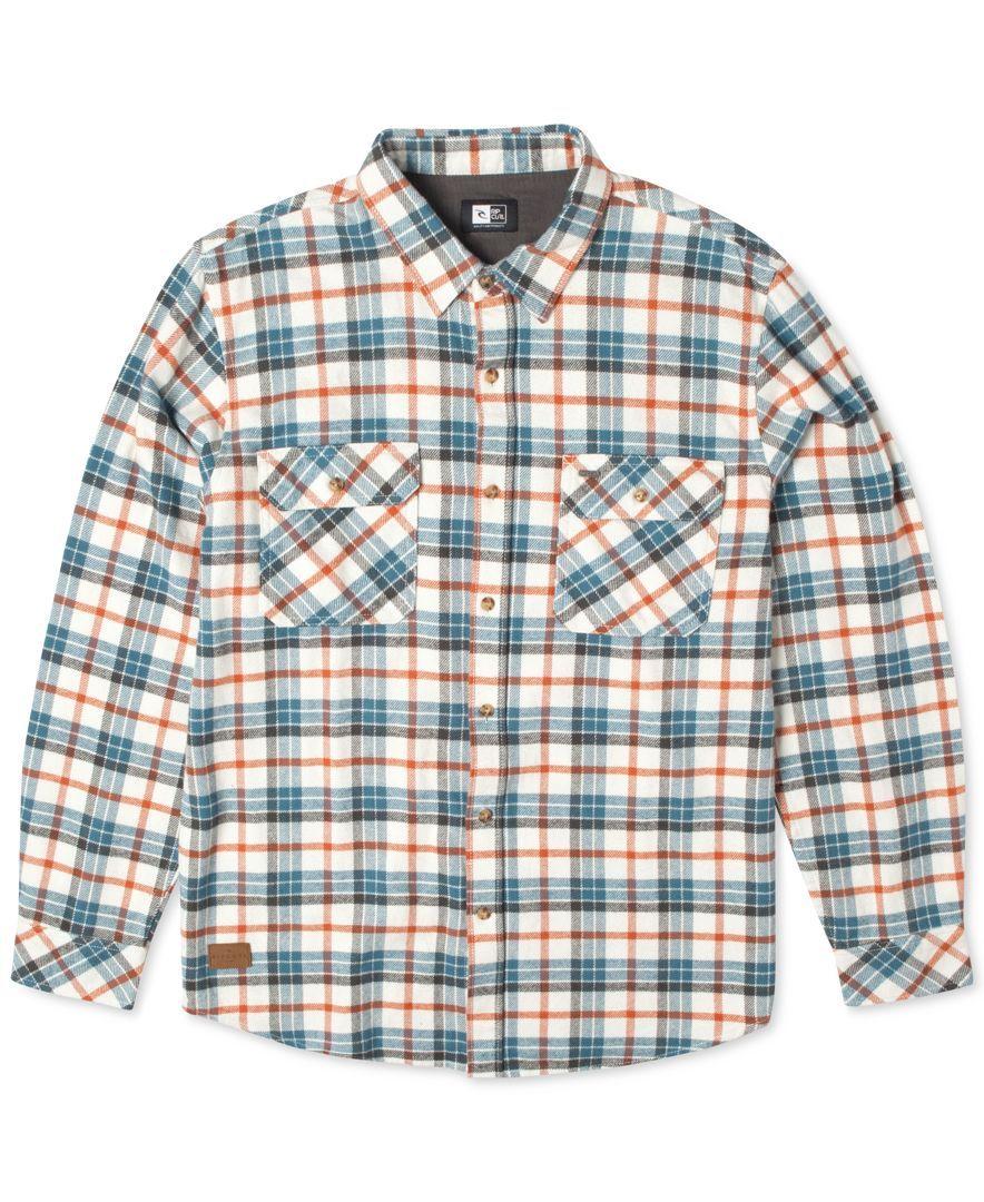 Flannel under shirt  Rip Curl Avalon Plaid Flannel LongSleeve Shirt  Chris  Pinterest