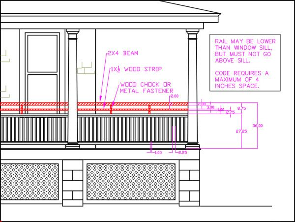 Porch Railing Height Building Code Vs Curb Appeal Front Porch