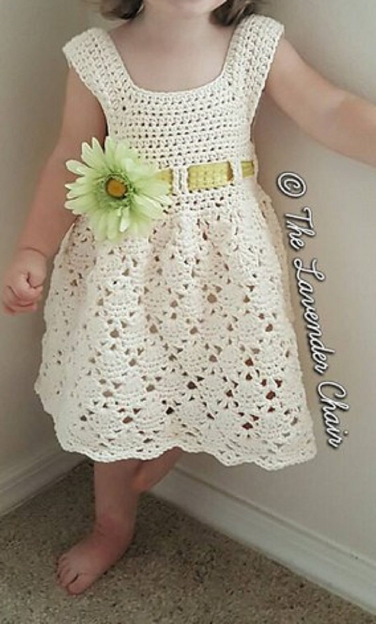 Free Pattern] The Perfect Little Crochet Dress For Your Little Ones ...