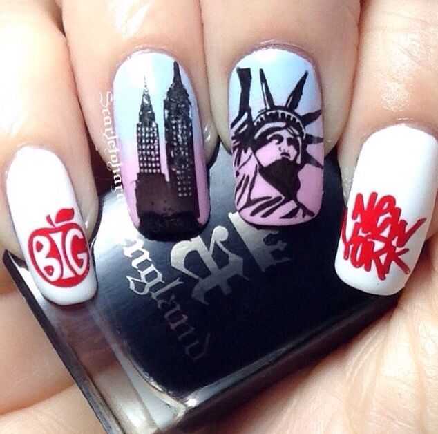 New York City Nails By Scarletohara65 Nyc Nails Usa Nails Ny Nails