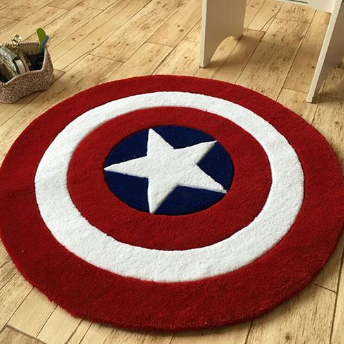 Fantastic Avengers Captain America Star Round Floor Rug Bath Bedroom Pabps2019 Chair Design Images Pabps2019Com