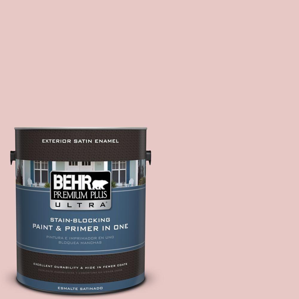 BEHR Premium Plus Ultra 1-gal. #150E-2 Kashmir Pink Satin Enamel Exterior Paint
