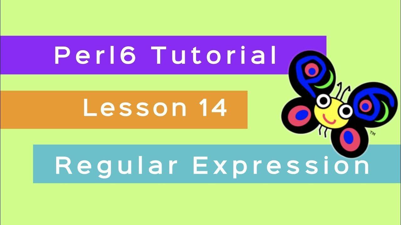 Perl 6 Beginner Tutorial Lesson 14 Regular Expression