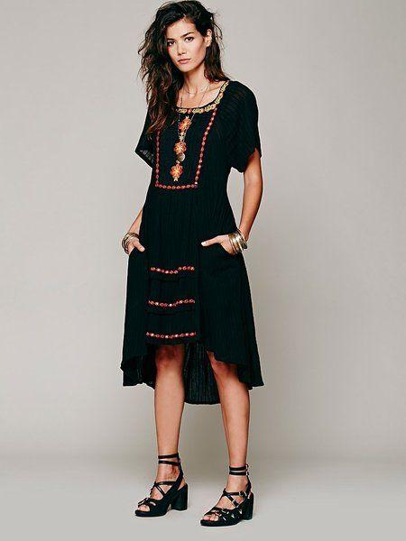 dc18af05fd Folk Embroidered Dress - Lyst
