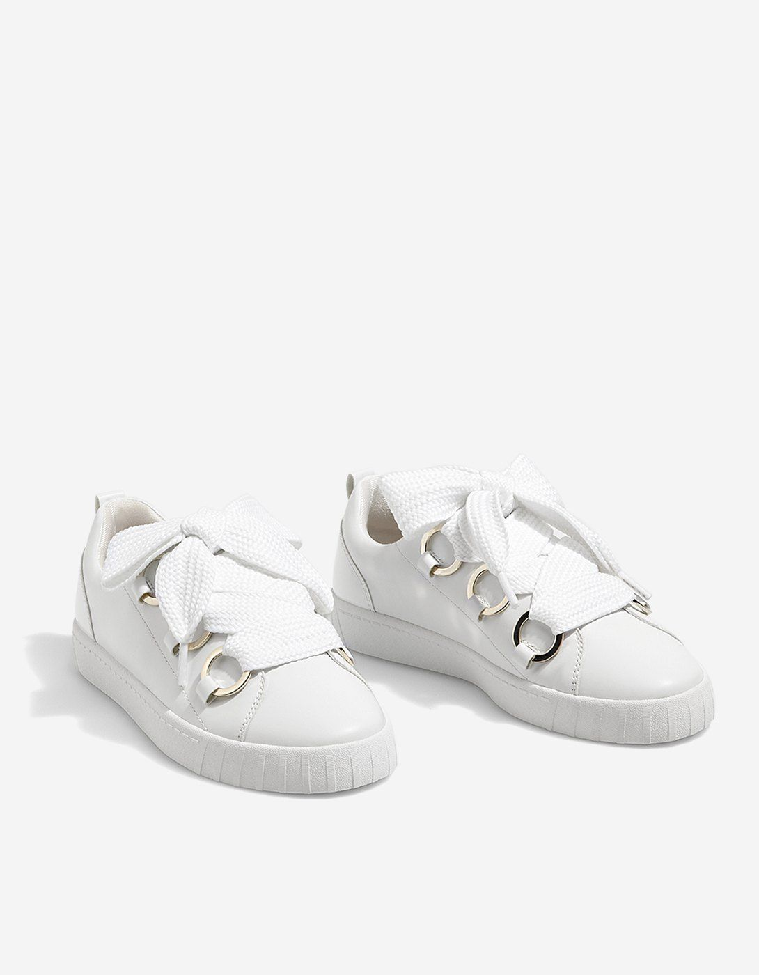 premium selection c74ba 0525c White lace-up sneakers - All   Stradivarius Romania