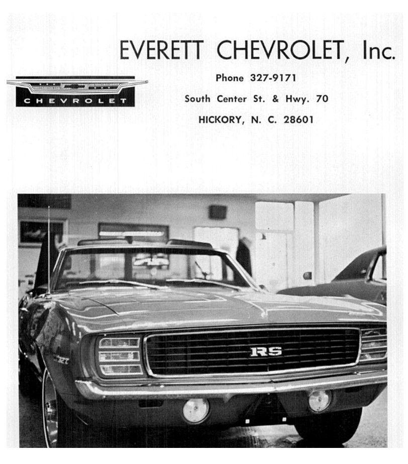 1969 Everett Chevrolet Inc. Dealership, Hickory, North