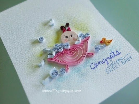 Lulu s Quilling Lab- newborn baby quilled card Quilling Pinterest Quilling, Labs and Babies