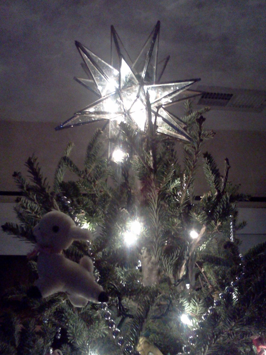 Stained Glass Moravian Star Tree Topper | Yuletide Creations | Tree ...