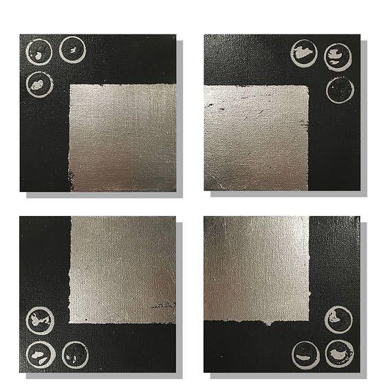 Industrial Decor, Modern Minimalist, Minimalist Art, Black and ...