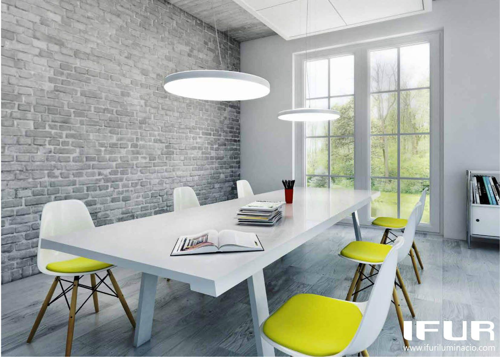 Modern lighting style - Estilo moderno, oficina / comedor con ...