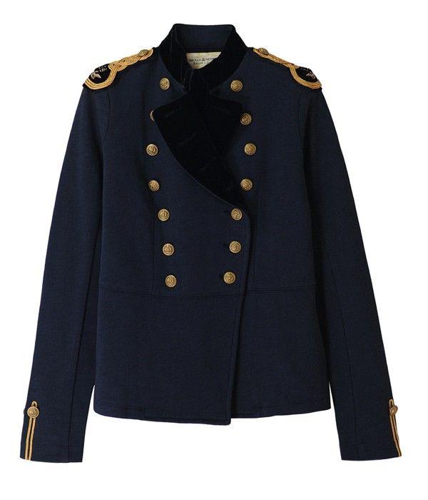 Veste militaire homme bleu marine
