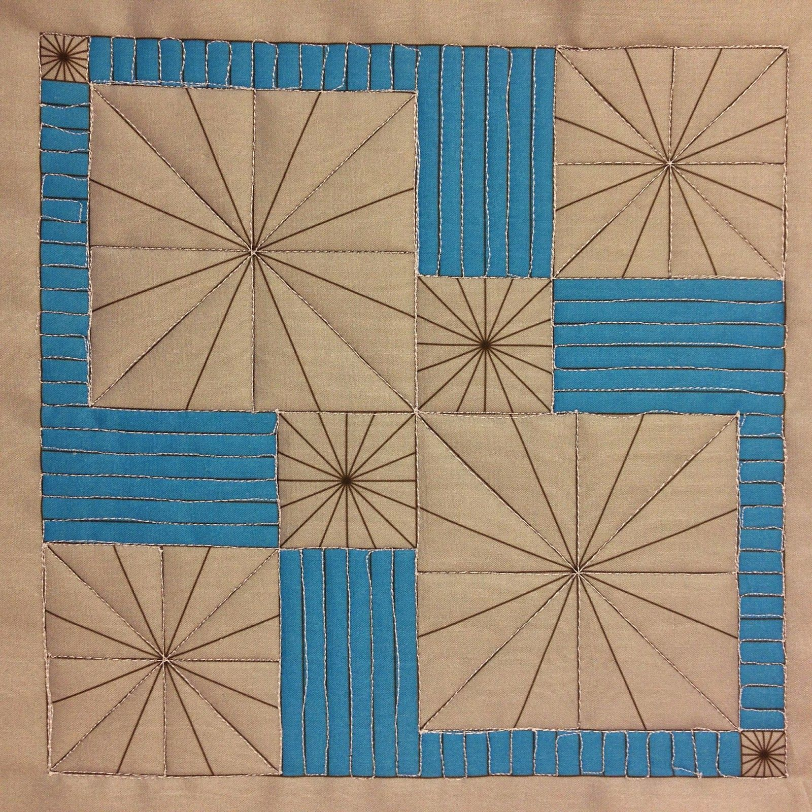 Watch a beginner quilter, Josh Day, quilt lines and stars over ... : fabric lines for quilting - Adamdwight.com