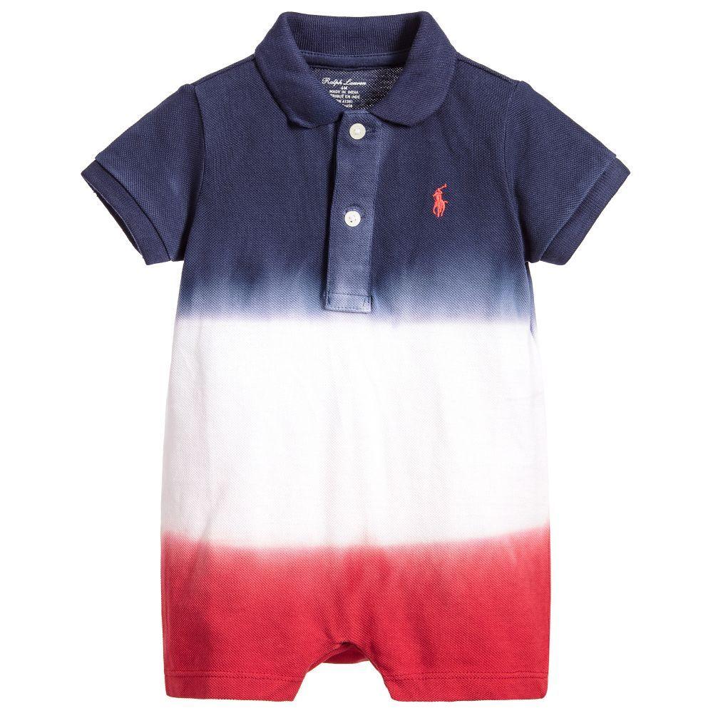 15643530b Baby Boys Dip Dye Polo Shortie