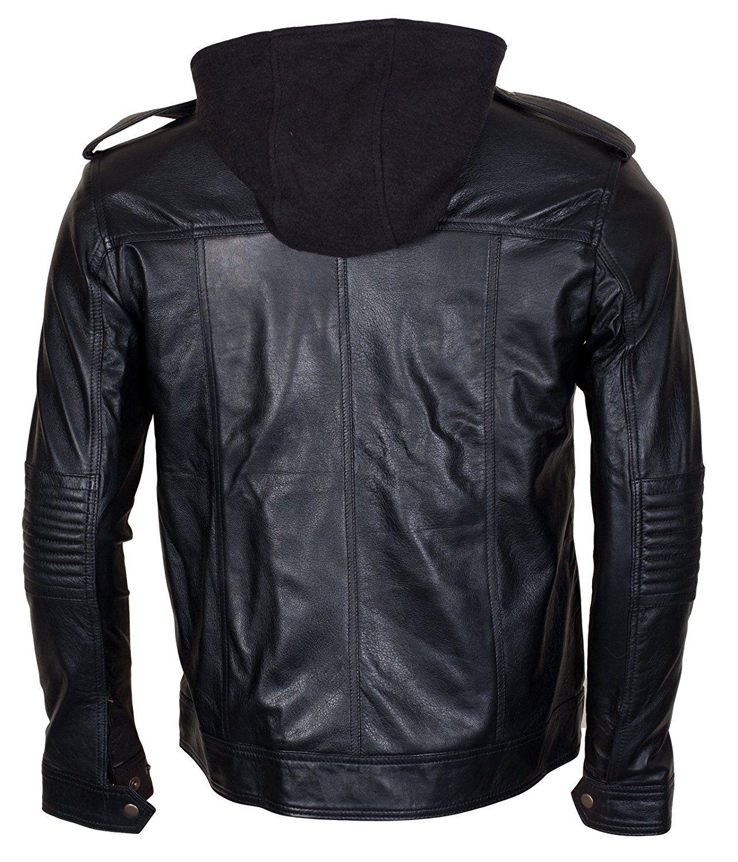 TNA AJ Style Black Genuine leather Mens Wrestler Leather