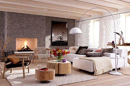 Hell und natürlich Eichenmöbel, Parkett laminat und Wohnzimmer