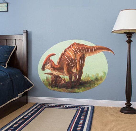 Parasaurolophus Dinosaur Decal Wall Decal Vinyl Decal Wall Etsy Dinosaur Wall Art Dinosaur Decals Wall Decals