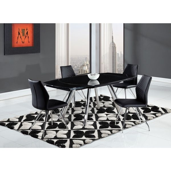 Quilted Modern Black Dining Chair